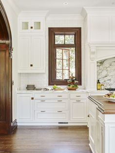 White kitchen filled