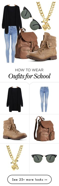 """High School"" by thatonefabulouspotato on Polyvore featuring H&M, G-Star, Juicy Couture and Ray-Ban"