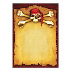 Afbeeldingsresultaat voor pirate invitation blank