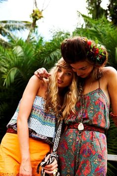 colorful patterns love the jumper and flower crown w/ up do not her up do tho :-)
