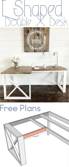 DIY Office Desk - Woodworking Plans