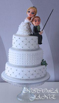 FISHING WEDDING CAKE  Cake by nicolalabridgeter  Keywords: #weddings #jevelweddingplanning Follow Us: www.jevelweddingplanning.com  www.facebook.com/jevelweddingplanning/