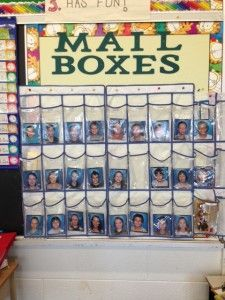 Ideas for Cheap and Easy STUDENT MAILBOXES in the Classroom Love this idea of putting student pictures instead of names or numbers! Easy for kids, subs, other teachers, and even the teacher! Classroom Organisation, Paper Organization, Classroom Setup, Preschool Classroom, Future Classroom, Classroom Management, Preschool Boards, Inclusion Classroom, Classroom Procedures