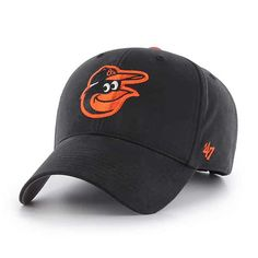 56771b80383 Baltimore Orioles KIDS 47 Brand Black Orange MVP Adjustable Hat