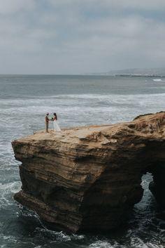 Barefoot Seaside Sunset Cliffs Wedding in San Diego