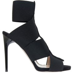 Paul Andrew Mulberry Heel (19,580 INR) ❤ liked on Polyvore featuring shoes, pumps, black stiletto shoes, heels stilettos, black pumps, slip on shoes and black stilettos