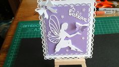 Handmade die cut purple & white pearl pin dot frames card topper. White Base card, centura pearl purple layer, white fairy mounted with foam pads. Two layered butterfly with gems, white bow with added gem, with love sentiment, also some added sequins. Great for any occasion to add that finishing touch to your handmade cards. Please see photos for size. Will be posted in celophane bag and hard backed envelope or padded bag. Please take a look at my other toppers, cards, and crafty bits, al...