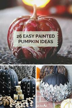 Get ready for fall decorating with these cool ideas for painted pumpkins. Perfect for the porch curb appeal or even a rustic centerpiece.