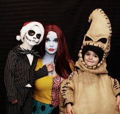 Jack, Sally, and Oogie on Halloween Eve.