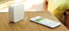 Monitor your air quality at home through your phone, with the Eve Room monitor.