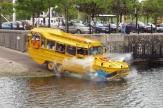 Take an hour-long amphibious #sightseeing tour of #Liverpool on the #YellowDuckmarine. #UK #travel