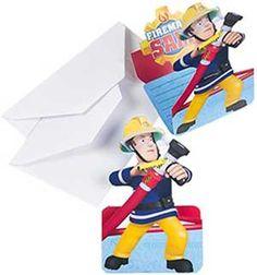 8 leuke Brandweerman Sam uitnodigingen voor de echte fans! Met deze leuke uitnodigingen maak je een gezellig thema kinderfeestje helemaal af! De uitnodigingen worden inclusief 8 witte enveloppen geleverd.