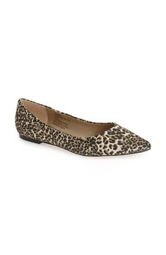 I want in the super thin black and white stripes --- Sole Society 'Quinn' Pointy Toe Ballet Flat (Women) available at #Nordstrom