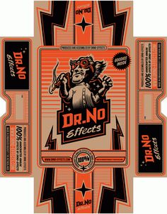 DrNo Effects – Logo, Illustrations & Packaging Design Cool Packaging, Bottle Packaging, Vintage Packaging, Graphic Design Posters, Graphic Design Illustration, Lettering Design, Logo Design, Design Research, Print Layout