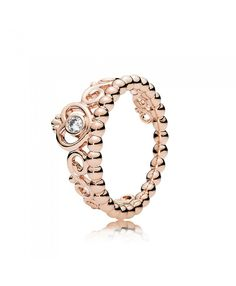 Pandora rose gold my princess tiara ring give you every kind of experience, it aims to shape women be a princess.