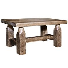Oak Table Top, A Table, Wood Furniture, Industrial Furniture, Furniture Plans, Wooden Tables, Pallet Tables, Wooden Footstool, Minwax Stain