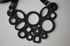 black crochet necklace