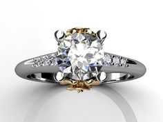 (15) 14k two tone white and yellow gold diamond unusual by Jewelice, $1,145.00
