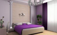 Для того чтобы комната была более светлой, необходимо выбирать обои светлого сиреневого цвета