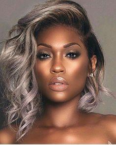 Cabelo-Platinado-Em-Morenas Best Short Hairstyles for Black Women 2018 – 2019 Curly Hair Styles, Natural Hair Styles, Black Girls Hairstyles, Wig Hairstyles, Trendy Hairstyles, Wedding Hairstyles, Black Hairstyles With Weave, 1950s Hairstyles, Hairstyles Pictures