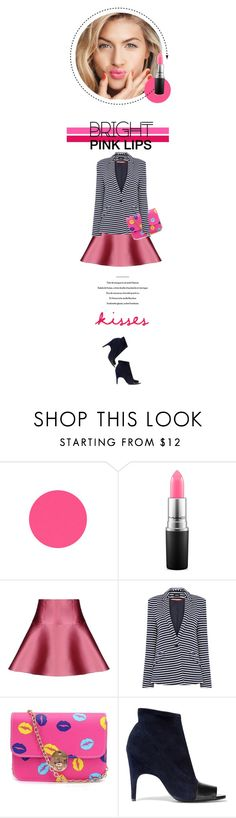 """Hot and bright pink kiss"" by vinograd24 ❤ liked on Polyvore featuring beauty, MAC Cosmetics, RED Valentino, Oasis, Acne Studios and pinklips"