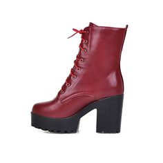 super popular 68e66 971d5 Lace Up Ankle Boots High Heels Women Shoes Fall Winter 11191501
