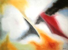 Wuchtig, Pastell auf Papier, BxH 48x36cm