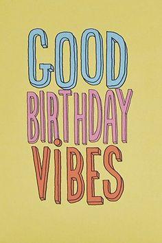 "Karte ""Good Birthday Vibes"""