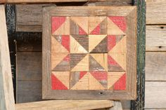 primitive quilt block country barn quilt by IlluminativeHarvest, $55.00