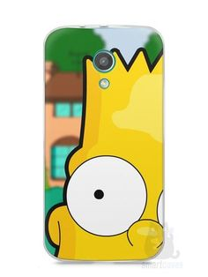 Capa Moto G2 Bart Simpson Face