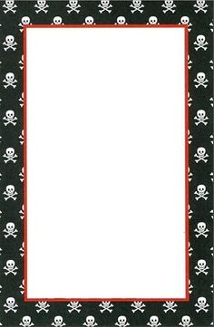 RECURSOS DE EDUCACION INFANTIL: PROYECTO PIRATA Cute Stationery, Stationery Paper, Stationary, Pirate Pictures, The Pirates, Boarders And Frames, Pirate Treasure, Notebook Paper, Borders For Paper