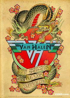 Tour Posters, Band Posters, Van Halen, Fall Out Boy, Blossom Music, Rock Vintage, Heavy Metal Art, Rock Concert, Concert Posters
