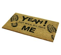 Buy JVL Novelty Walk Over Me PVC Backed Coir Doormat at Argos.co.uk - Your Online Shop for Rugs and mats, Home furnishings, Home and garden.