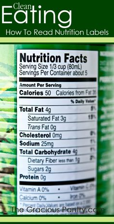 Learn how to read nutrition labels for clean eating. It's easy!! #cleaneating