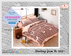 Designer Dohar Blanket. Owing to the hard work of our experienced workforce, we are pleased to introduce to introduce best quality range of Designer Dohar... coming soon  #Dohar #Signature #Blankets