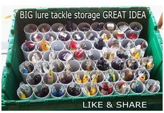 Here's a great idea for BIG lure storage for fishing lakes like Wawang Lake