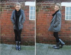 Casual outfit with short hunter wellies.