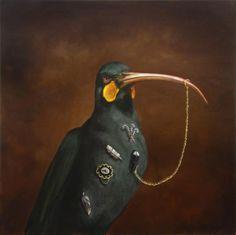 "Joanna Braithwaite ""The world of Joanna Braithwaite's painting is part menager. Montage Art, Assemblage Art, Naive Art, Doodle Drawings, Surreal Art, Artist Painting, Bird Art, New Art, Illustrators"