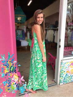 b1cc3e6db7e8 Lilly Pulitzer Allair Beach Maxi Dress Spring 2017 Pink Bee Greenville