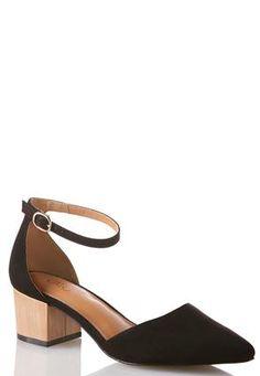 41b0cab8ec91 Cato Fashions Wide Width Block Heel Faux Suede Pumps  CatoFashions Suede  Pumps
