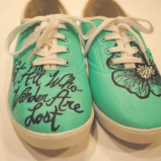 Totally loving the hand painted shoes scene.