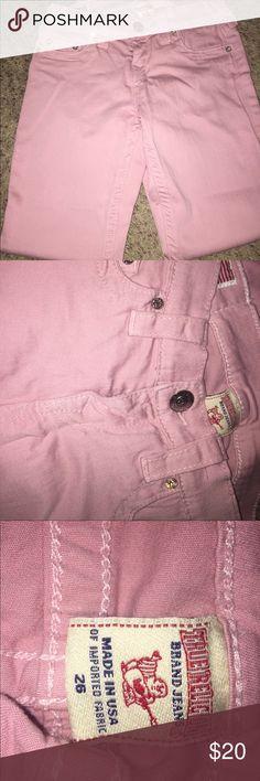 Selling this Pink True Religion Jeans on Poshmark! My username is: syd9736. #shopmycloset #poshmark #fashion #shopping #style #forsale #True Religion #Denim