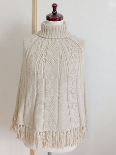 Ravelry: Project Gallery for Guernsey design Poncho pattern by Atsuko Takeda (武田敦子)