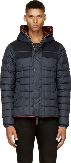 Duvetica: Navy Quilted Eumeleo Jacket | SSENSE