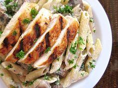 Creamy Mushroom Pasta with Chicken
