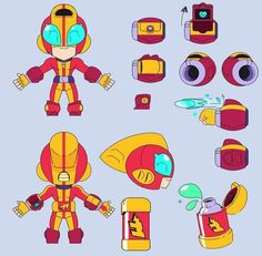 Robot Concept Art, Game Concept Art, Star Character, Character Design, Paul Chambers, Roblox Pictures, Batman The Animated Series, Star Wallpaper, Star Art