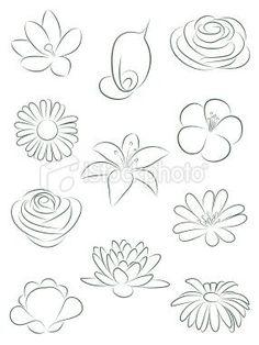 Set of flowers. Vector illustration. Royalty Free Stock Vector Art Illustration