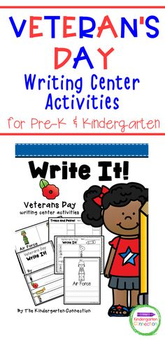 It's important to celebrate holidays through play in the early childhood classroom. This Veterans Day Writing Center is perfect for Pre-K, Kindergarten, and 1st-grade students to get them labeling, writing, and creating! The printable pack is 28 pages long and includes different writing activities perfect for writing stations or literacy centers. Punctuation Activities, Kindergarten Writing Activities, Veterans Day Activities, Literacy Skills, Work On Writing, Writing Prompts For Kids, Writing A Book, Activity Centers, Literacy Centers