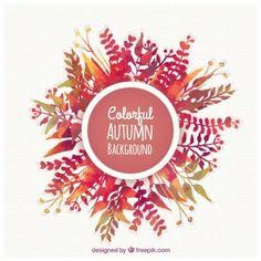 Fundo colorido do outono