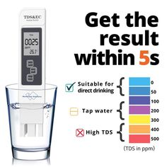 3 in 1 TDS EC Meter Temperature Digital LCD Water Testing Pen ❤️ Pin it please on your board